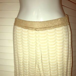 Chritian Lacroix crochet gold trim pants . New